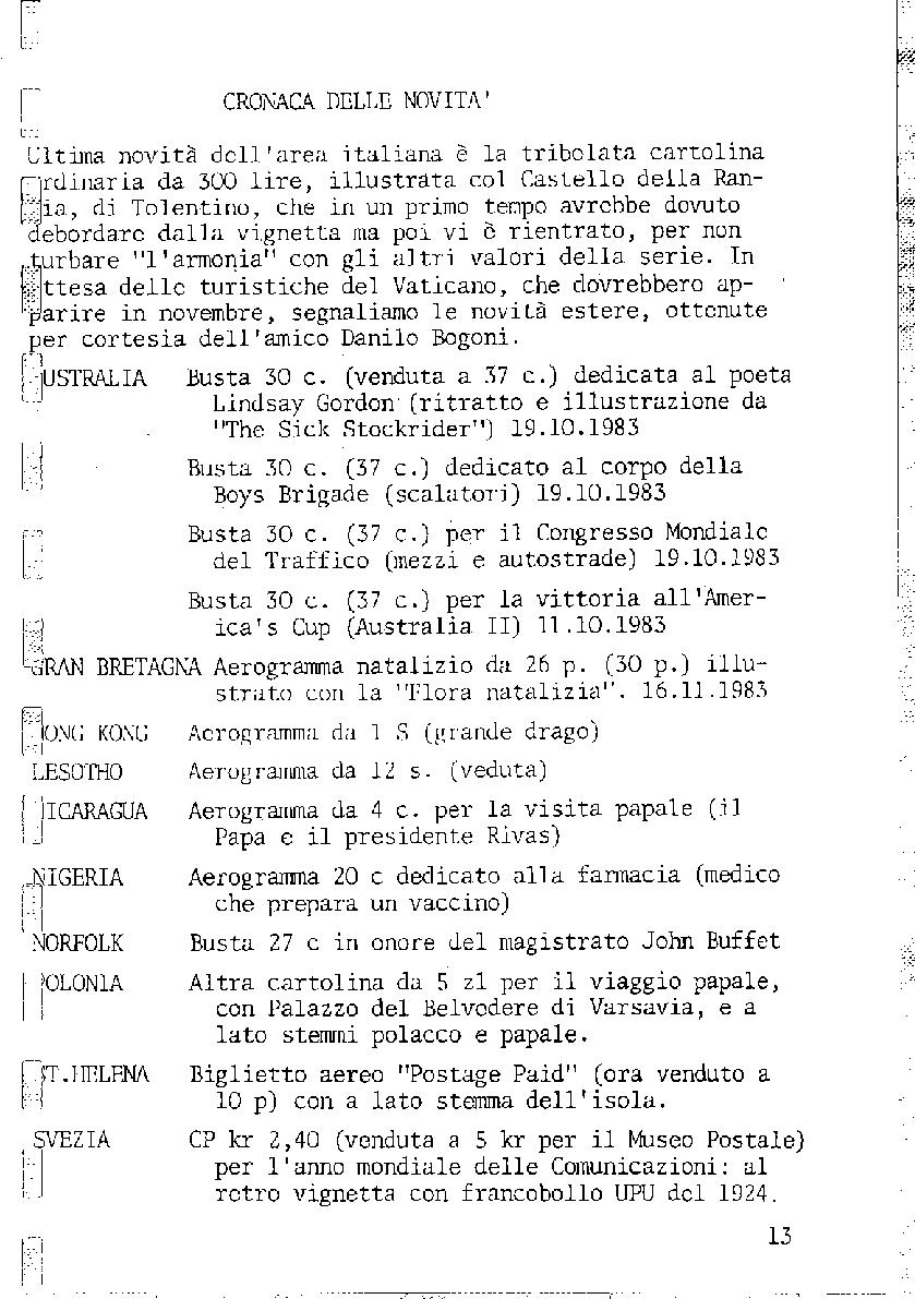 L'Intero Postale dal n. 1 al n. 1391