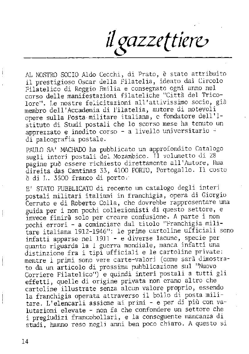 L'Intero Postale dal n. 1 al n. 1392