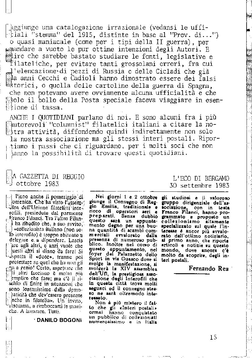 L'Intero Postale dal n. 1 al n. 1393