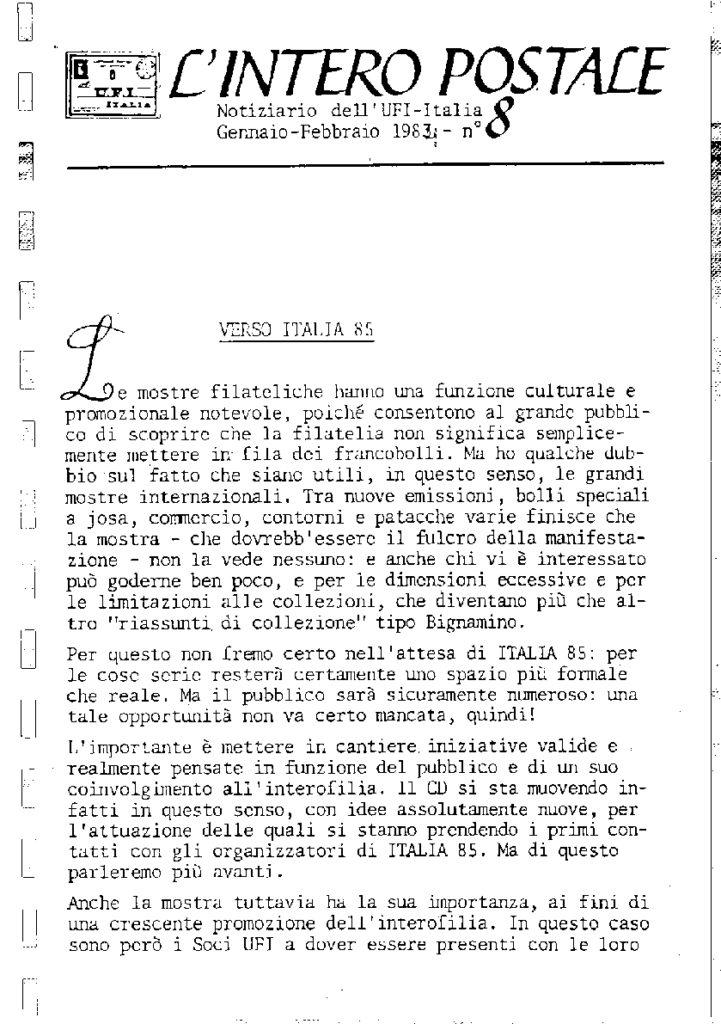 L'Intero Postale dal n. 1 al n. 13131